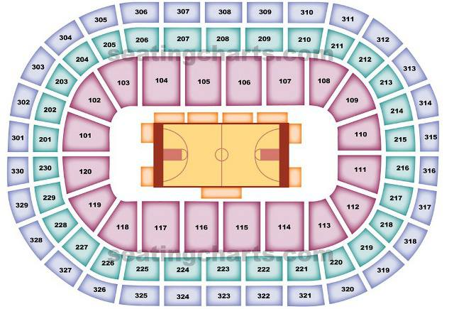 Oklahoma City Thunder Seating Chart for Chesapeake Energy Arena